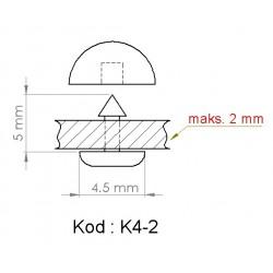 K4-2 = 4.5mm x 5mm