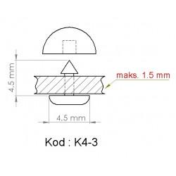 K4-3 = 4.5mm x 4.5mm