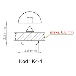 K4-4 = 4.5mm x 2.5mm